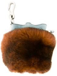 Alexander Wang Mini 'Roxy' Keychain Brown