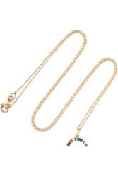 Ileana Makri Iam By Rainbow Gold Plated Cubic Zirconia Necklace