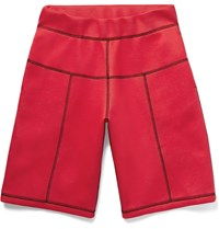 Christopher Kane Panelled Scuba Jersey Shorts Red