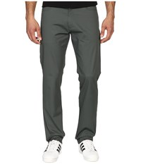 Calvin Klein Four Pocket Sateen Bowery Casual Pants Urban Chic Men's Casual Pants Gray