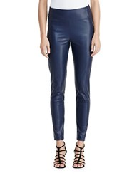 Lauren Ralph Lauren Petite Faux Leather Leggings Navy