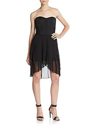 Bcbgmaxazria Strapless Bustier Dress Black