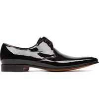 Barker Goldington Patent Derby Shoes Black