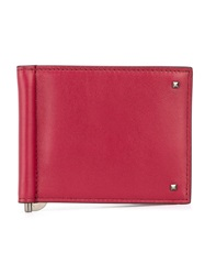 Valentino Garavani 'Rockstud' Card Holder Red