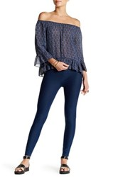 Sanctuary Cropped Grease Ponte Pant Blue