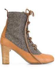 Vivienne Westwood Anglomania Panelled Lace Up Boots