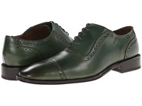 Messico Galiano Green Leather Men's Flat Shoes