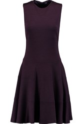 Joseph Colonel Wool Blend Dress Dark Purple