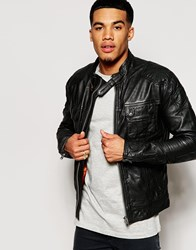 Superdry Falcon Leather Jacket Black