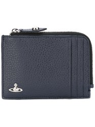 Vivienne Westwood Textured Zip Up Wallet Blue