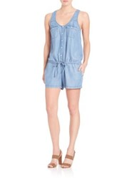 Soft Joie Mendra Chambray Romper Vintage Chambray