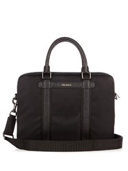 Dolce And Gabbana Leather Trimmed Nylon Briefcase Black