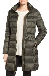 Michael Michael Kors Petite Women's Hooded Down Coat Olive