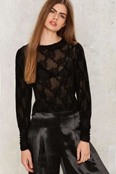 Motel Pavo Mesh Blouse Black