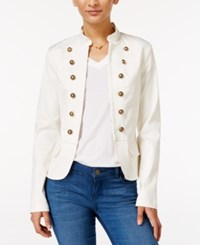 In Awe Of You By Awesomenesstv Awesomeness Tv Juniors' Military Style Blazer White