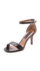 Steven Vienna Leather Sandals Black