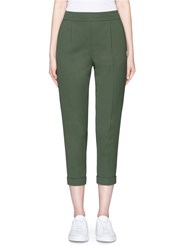 Vince Tapered Leg Rolled Cuff Pants Green