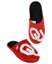 Forever Collectibles Men's Oklahoma Sooners Big Logo Slippers