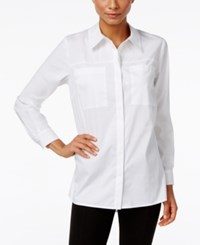 Styleandco. Style Co. Pocketed High Low Shirt Only At Macy's Bright White