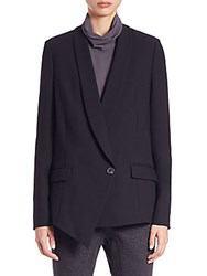 Brunello Cucinelli Asymmetrical Twill Blazer Black