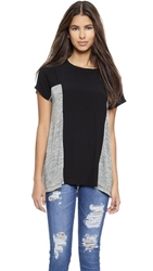 Autograph Addison Donna Pleated Back Swing Top Heather Grey