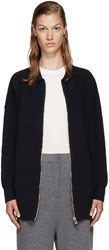 Stella Mccartney Navy Wool Zip Up Cardigan