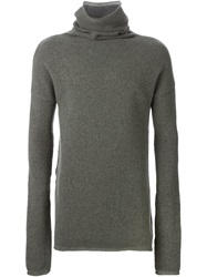Lost And Found Roll Neck Fitted Sweater Grey