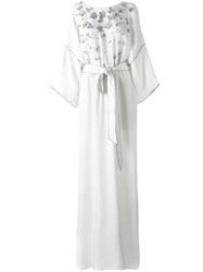 Oscar De La Renta Kaftan Dress White