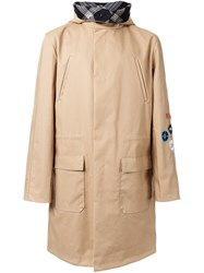 Raf Simons Body Hooded Coat Brown