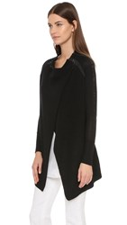 Tess Giberson Moving Rib Cardigan With Lacing Detail Black