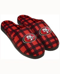 Forever Collectibles San Francisco 49Ers Flannel Slide Slippers Red