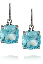 Bottega Veneta Oxidized Sterling Silver Cubic Zirconia Earrings