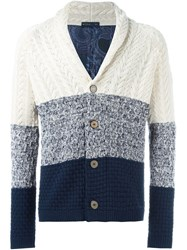 Etro Cable Knit Cardigan White