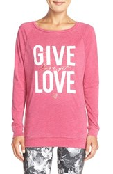 Women's Betsey Johnson 'Give Love Get Love' Acid Wash Pullover