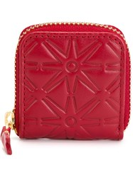Comme Des Garcons Wallet 'Colour Embossed A' Coin Purse Red