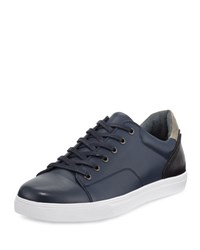 English Laundry Hatch Leather Lace Up Sneaker Navy