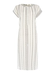 Vero Moda Stripe Short Sleeve Tunic Cream