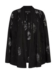 Mela Loves London Lace Cutout Cardigan Jacket Black