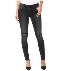 Paige Verdugo Ultra Skinny In Smoke Grey Destructed Smoke Grey Destructed Women's Jeans Black