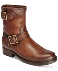 Frye Women's Vicky Moto Boots Women's Shoes Brown