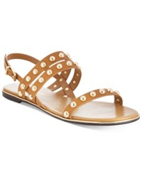 Report Caia Studded Flat Sandals Women's Shoes Tan
