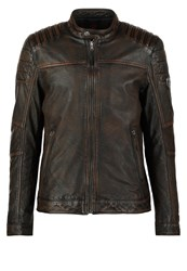 Mustang Whyte Leather Jacket Vintage Brown Dark Brown