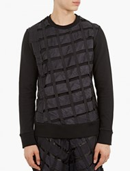 Christopher Raeburn Black Remade Woven Sweatshirt