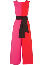 Isa Arfen Color Block Cotton Blend Jumpsuit