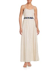 French Connection Patterned Maxi Dress Daisy White