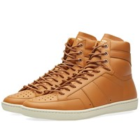 Saint Laurent 10H High Top Sneaker Brown