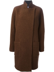 Emanuel Ungaro Cocoon Coat Brown