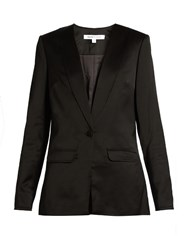 Elizabeth And James Evie Satin Blazer Black