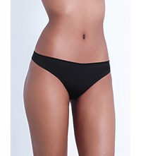 Myla Bodysilk Stretch Silk Thong Black