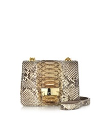 Ghibli Brown Python Mini Crossbody Bag